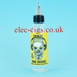 A bottle of Bone Crusher 80 ML E-Juice by Skully