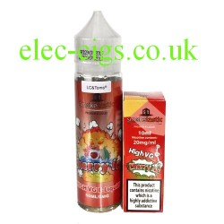 a bottle of Cherry Ice 50 ML E-Liquid plus Nicotine shot from Smoketastic