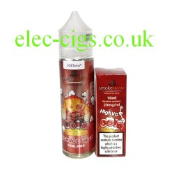 a bottle of Cola 50 ML E-Liquid plus Nicotine shot from Smoketastic