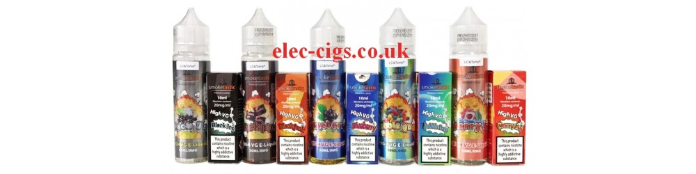 some of the Smoketastic 50 ML plus 10 ML E-Juice