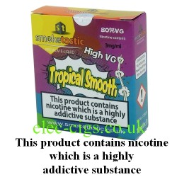 a pack of Tropical Smooth E-Juice from Smoketastic