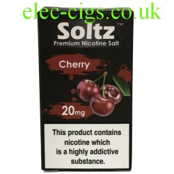 a box of Cherry High Nicotine E-Liquid by Soltz