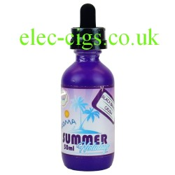 a bottle of Black Orange Crush 50 ML Summer Holiday E-Juice by Dinner Lady