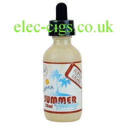 a bottle of Flip Flop Lychee 50 ML Summer Holiday E-Juice by Dinner Lady