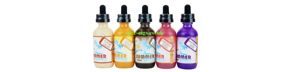 all of the Summer Holidays E-Liquid range by Dinner Lady