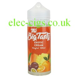 a bottle of Exotic Cream E-Liquid by The Big Tasty