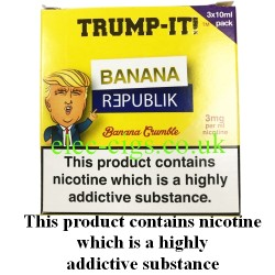 a box of Banana Republik E-Juice from Trump-it!