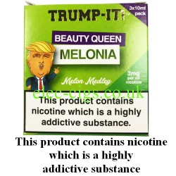 a box of Beauty Queen Melonia E-Juice from Trump-it!