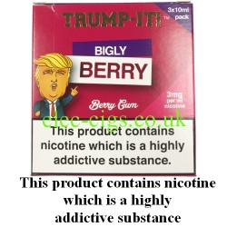 a box of Bigly Berry E-Juice from Trump-it!