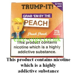 a box of Grab 'Em by The Peach E-Juice from Trump-it!