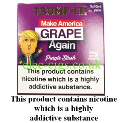 a box of Make America Grape Again E-Juice from Trump-it!