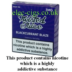 The pack of Twisted Juice: Blackcurrant Blaze