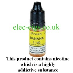 banana e-liquid by ifresh UK, showing the three different strengths available