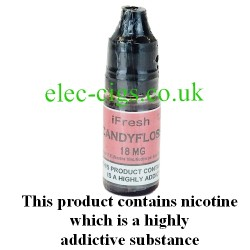 Candyfloss e-liquid by ifresh UK, showing the three different strengths available