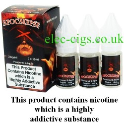 bottles of Apocalypse Vape Juice 30 ML: 80-20 (VG/PG) by VG Vapour