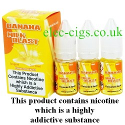 bottles of Banana Milk Blast​ Vape Juice 30 ML: 80-20 (VG/PG) by VG Vapour