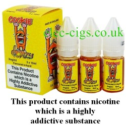 bottles of Cookie Crazy Vape Juice 30 ML: 80-20 (VG/PG) by VG Vapour