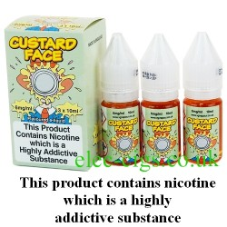 bottles of Custard Face Vape Juice 30 ML: 80-20 (VG/PG) by VG Vapour