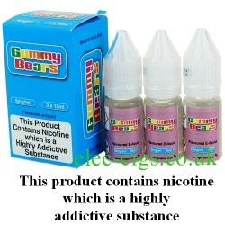 a bottle of Gummy Bears Vape Juice 30 ML: 80-20 (VG/PG) by VG Vapour