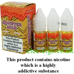 bottles of Monster Milk Vape Juice 30 ML: 80-20 (VG/PG) by VG Vapour