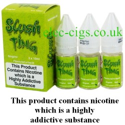 bottles of Slush Ting Vape Juice 30 ML: 80-20 (VG/PG) by VG Vapour