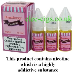 bottles of Strawberry Cheesecake Vape Juice 30 ML: 80-20 (VG/PG) by VG Vapour