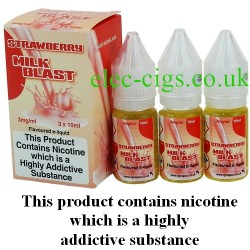 bottles of Strawberry Milk Blast Vape Juice 30 ML: 80-20 (VG/PG) by VG Vapour