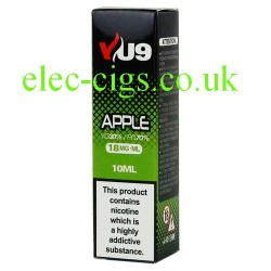 a box of Apple E-Liquid 10 ML from VU9