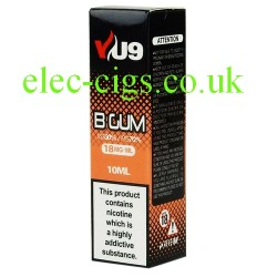 a box of B Gum E-Liquid 10 ML from VU9