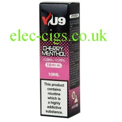 a box of Cherry Menthol E-Liquid 10 ML from VU9