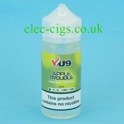 a bottle of Apple Trouble E-Juice: 100 ML: 80-20 (VG/PG)