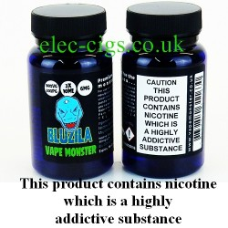 the image shows the bottles of Bluzila: 3 x 10 ML E-Juice by Vape Monster.