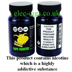 the image shows the bottles of Yellow Goblin: 3 x 10 ML E-Juice by Vape Monster