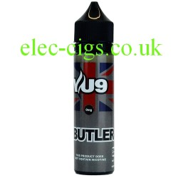 a bottle of Butler 50 ML E-Liquid by VU9