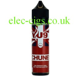 a bottle of Chunes 50 ML E-Liquid by VU9