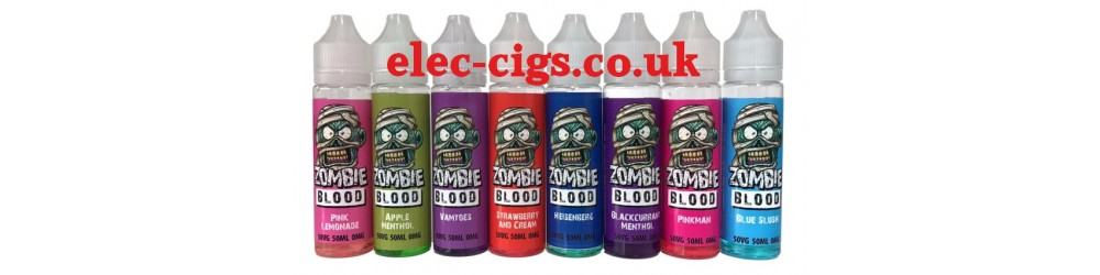 some of the Zombie Blood 50 ML E-Liquids