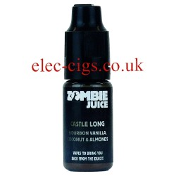 Castle Long 10 ML Zombie Juice showing the bottle on white background