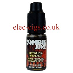 Continental Breakfast 10 ML Zombie Juice showing the bottle on white background