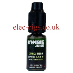 Druids Herb 10 ML Zombie Juice showing the bottle on white background