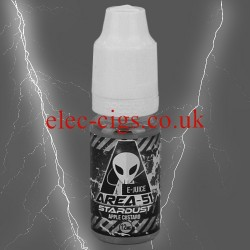Stardust 10 ml E-Juice by Area 51 in grey-tone on a grey background