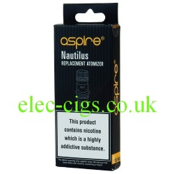 shows a box of 5 Aspire Nautilus Replacement Coils BVC