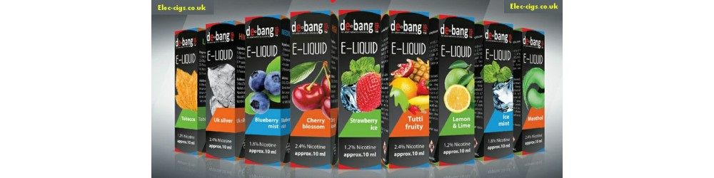 E-liquids from Debang shown in this image