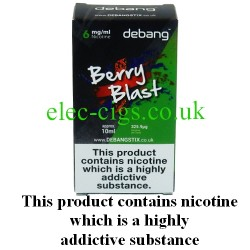 Berry Blast UK Made E-Liquid from Debang in its new retail box