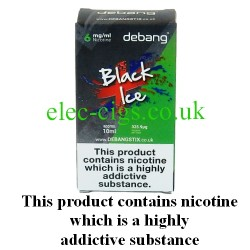 Black Ice UK Made E-Liquid from Debang in its new retail box
