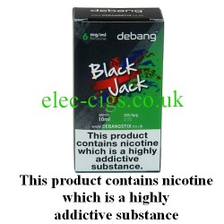 Black Jack UK Made E-Liquid from Debang in its new retail box
