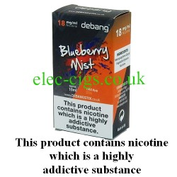 Blueberry Mist UK Made E-Liquid from Debang in its new retail box