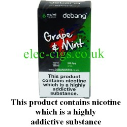 Grape and Mint UK Made E-Liquid from Debang in its new retail box