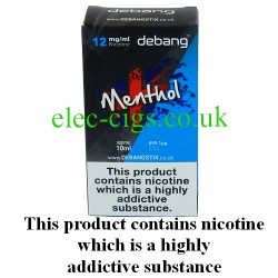 Menthol UK Made E-Liquid from Debang in its new retail box