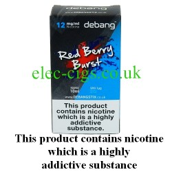 Red Berry Burst UK Made E-Liquid from Debang in its new retail box