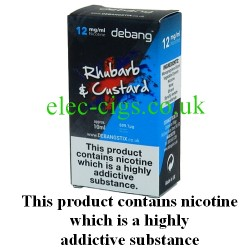 Rhubarb and Custard UK Made E-Liquid from Debang in its new retail box